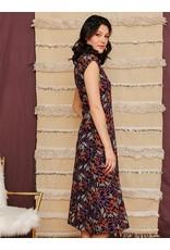 Elise Sheath, Organic Cotton Dress, Black Orchard