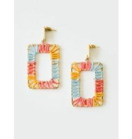 Save Ferris Multicolor Rectangle Earrings, India
