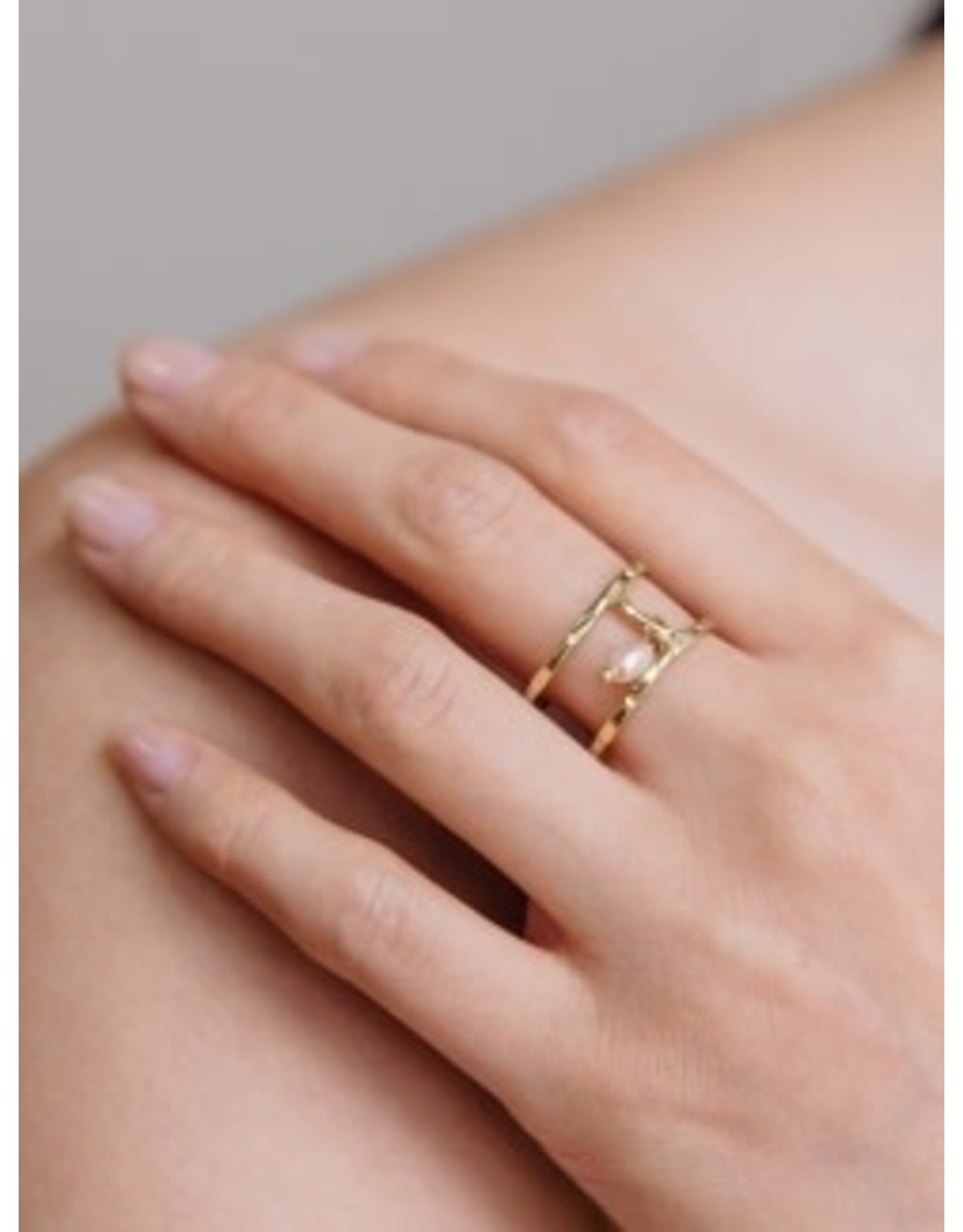 Kelly Bead Ring with Pearl, India