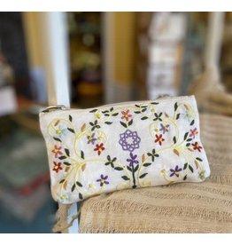 Embroidered Flower Linen Bag, Vietnam