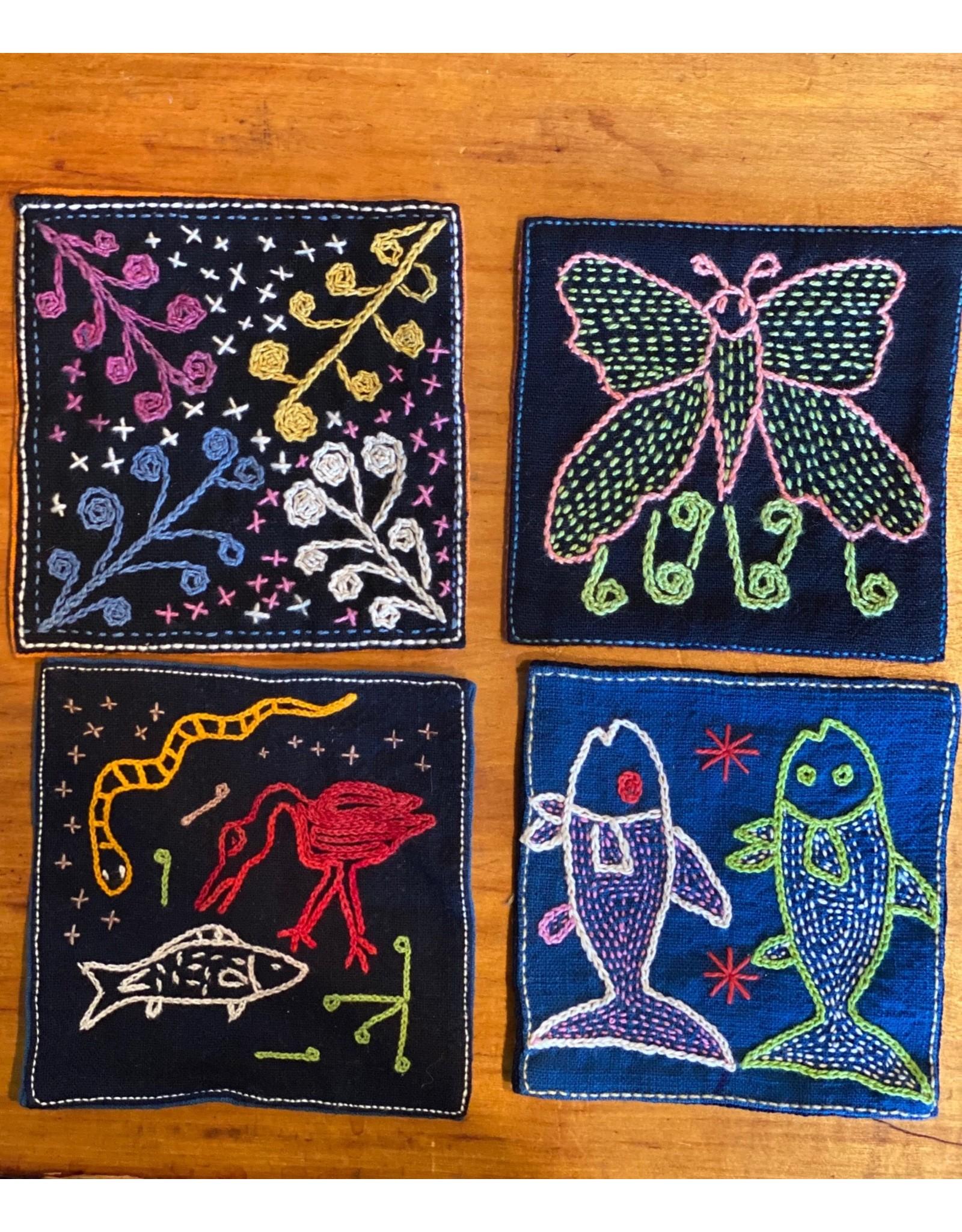 Individual Embroidered Coasters, Laos