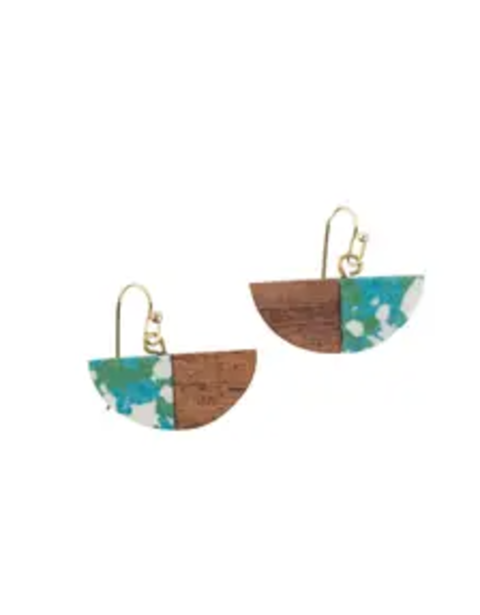 Water and Wood Earrings, India