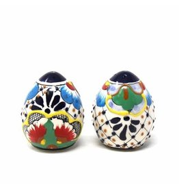 Salt and Pepper Shakers, Dots & Flowers, Mexico