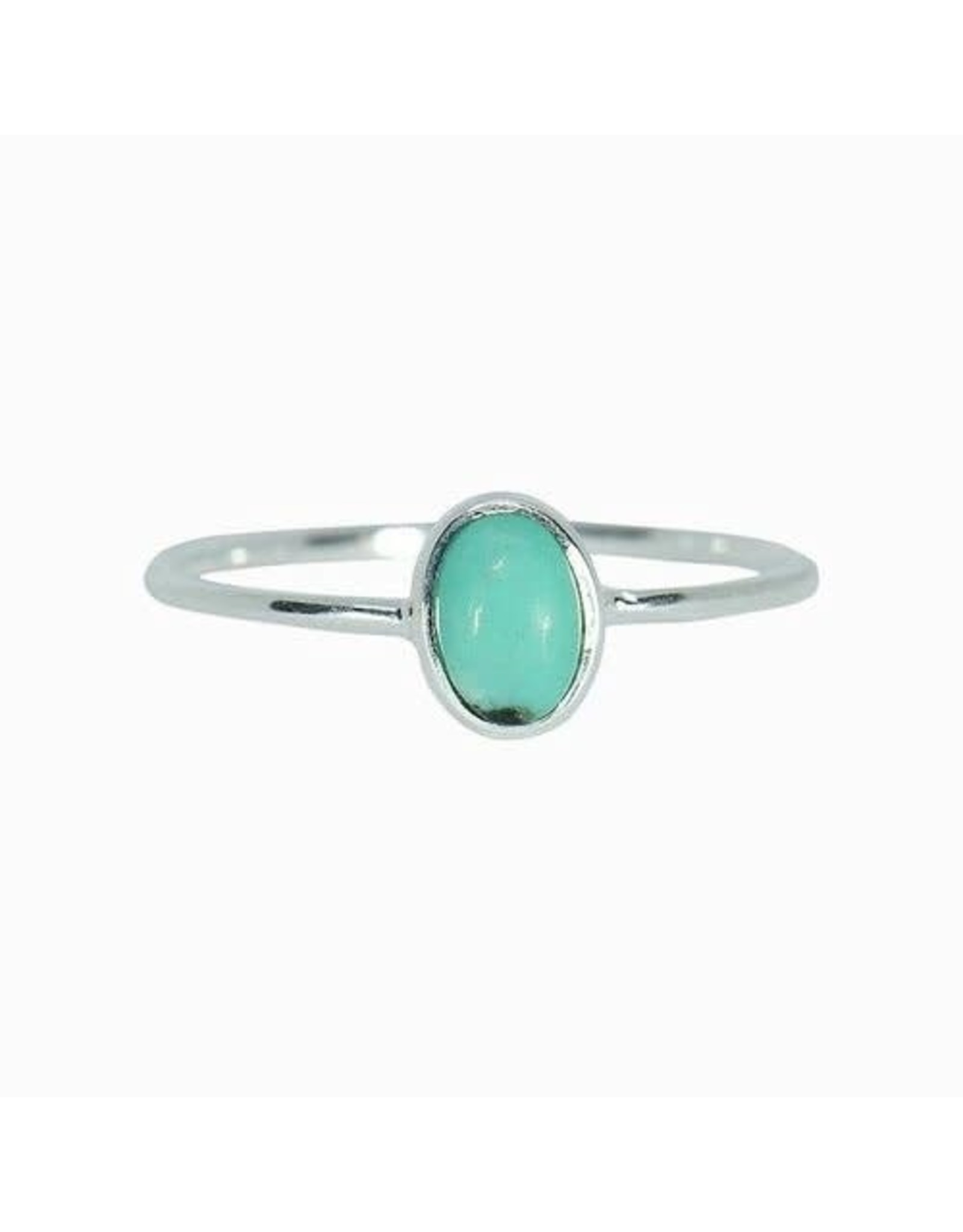 Pura Vida Turquoise Oval Stone Ring Size 6