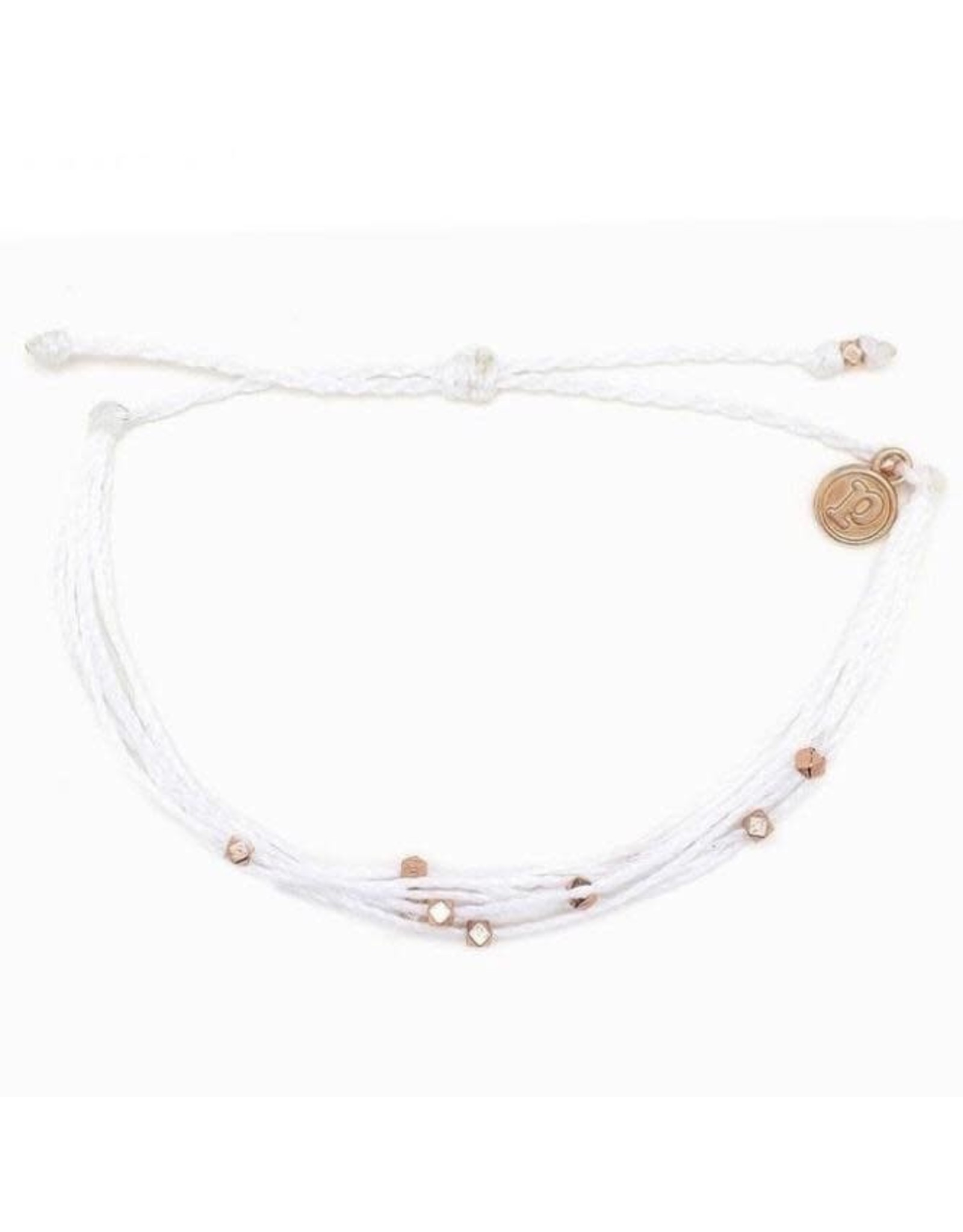 Pura Vida Pura Vida, Malibu Rose Gold Bracelet, White
