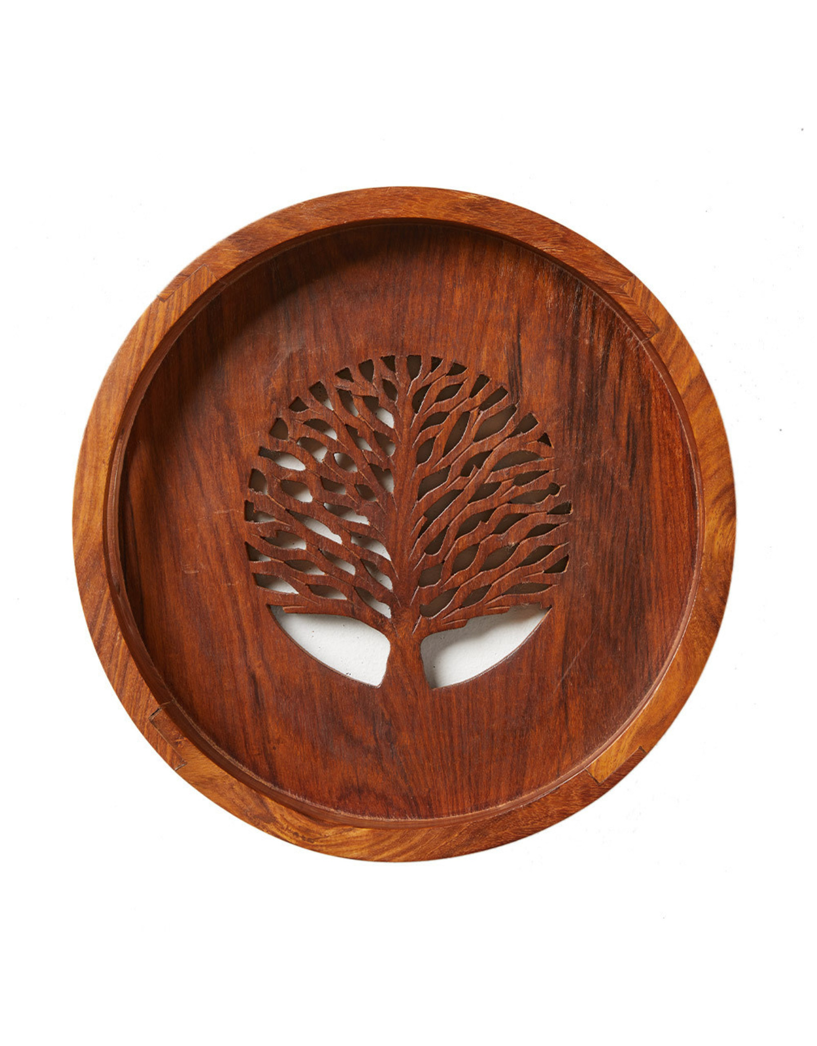 Tree of Life Shesham Serving Tray, India