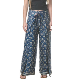 Silk Sari Blend Reversible Wrap Pants, India