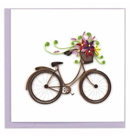 Bicycle with Flower Basket  Quilling Card, Vietnam