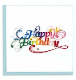 Happy Birthday Script Quilling  Card, Vietnam
