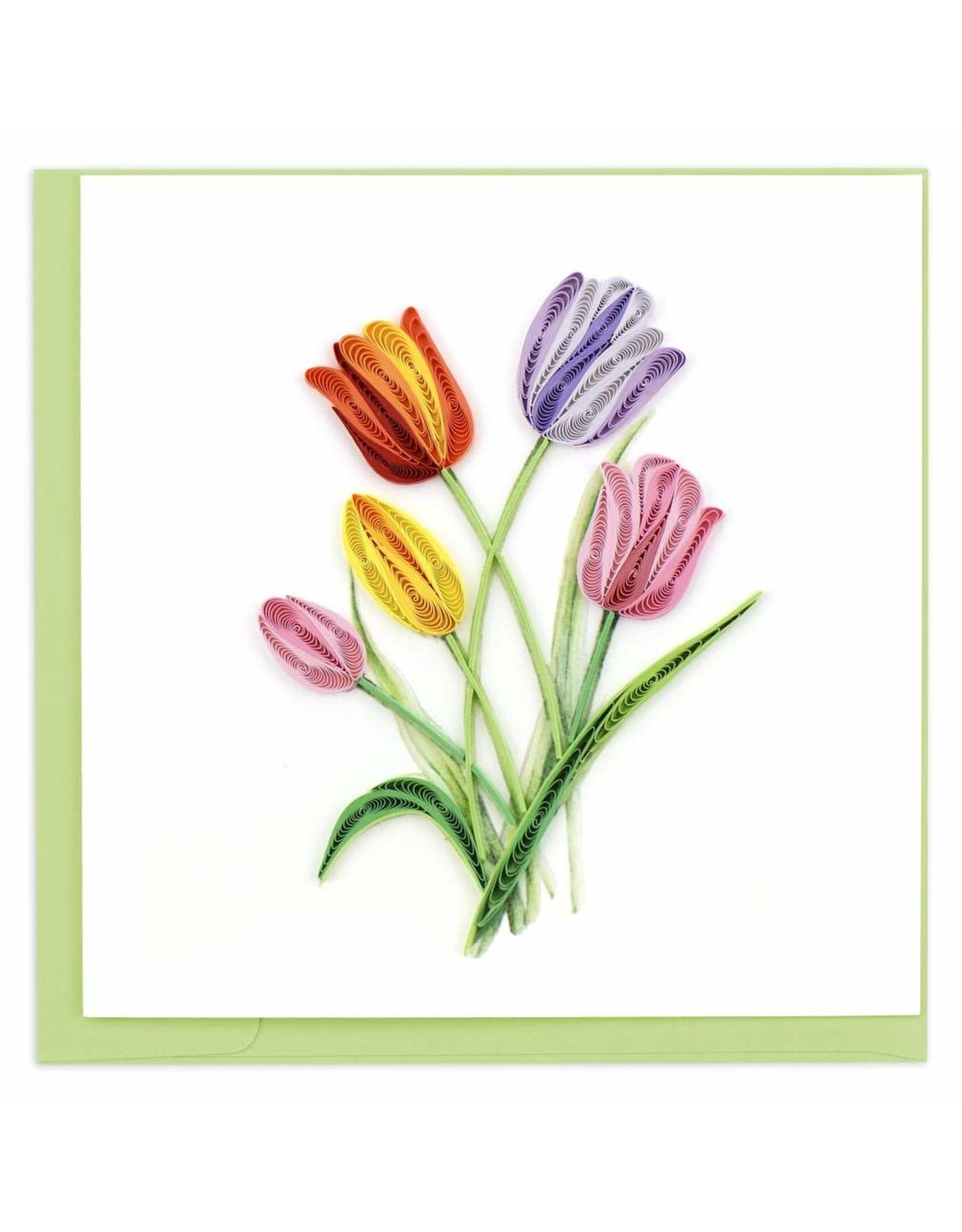 Colorful Tulips Quilling Card, Vietnam