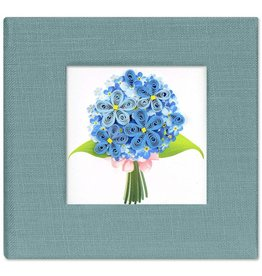 Quilled  Post It Notes Cover, Blue Hydrangea, Vietnam