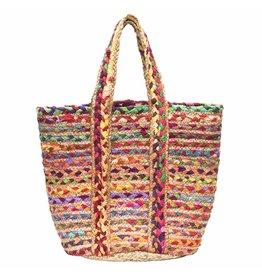 Chindi Blend Basket - Large Multicolor, India
