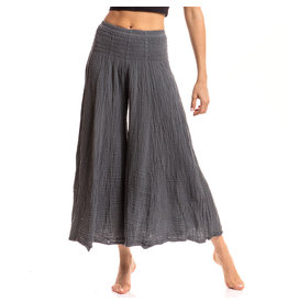 Crinkled Cotton  Pants, Smoked Pearl, Thailand
