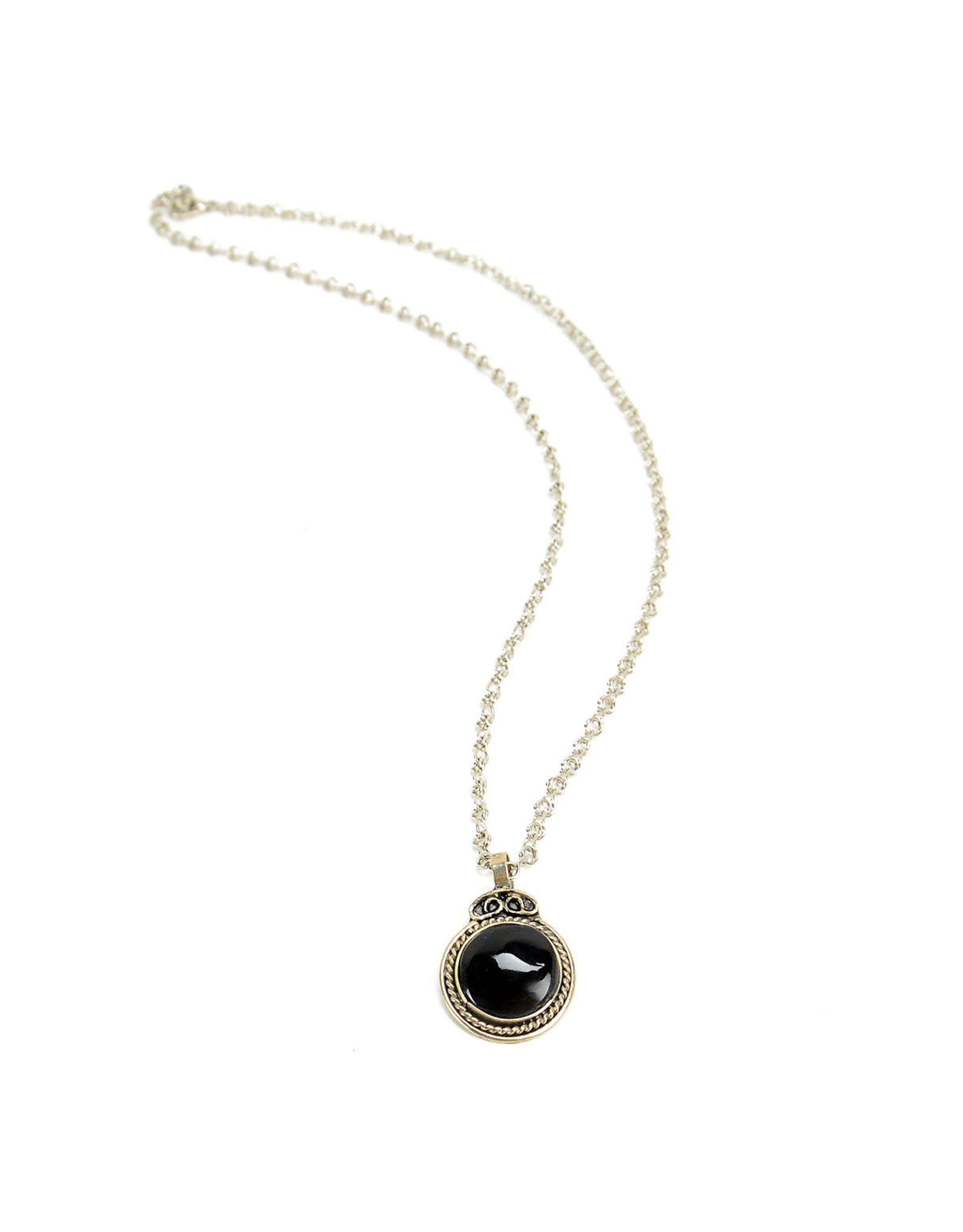 Black Onyx Alpaca Necklace, Peru