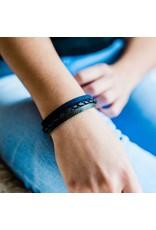 Lucia's Imports Three Color Leather Strand Bracelet, Guatemala