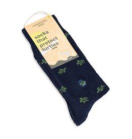 Socks that Protect Turtles, Navy