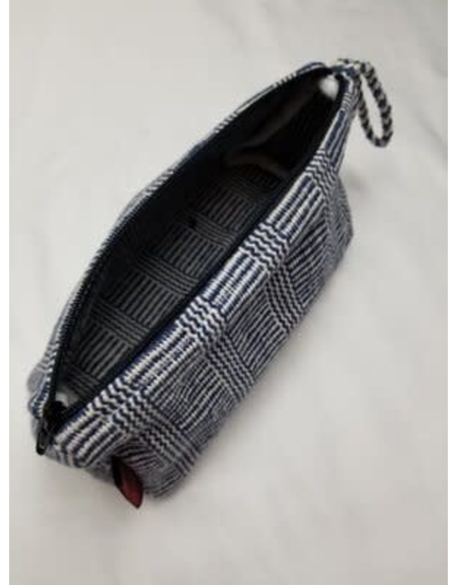 Prism Cosmetic Bag, Braided Handle, Nepal