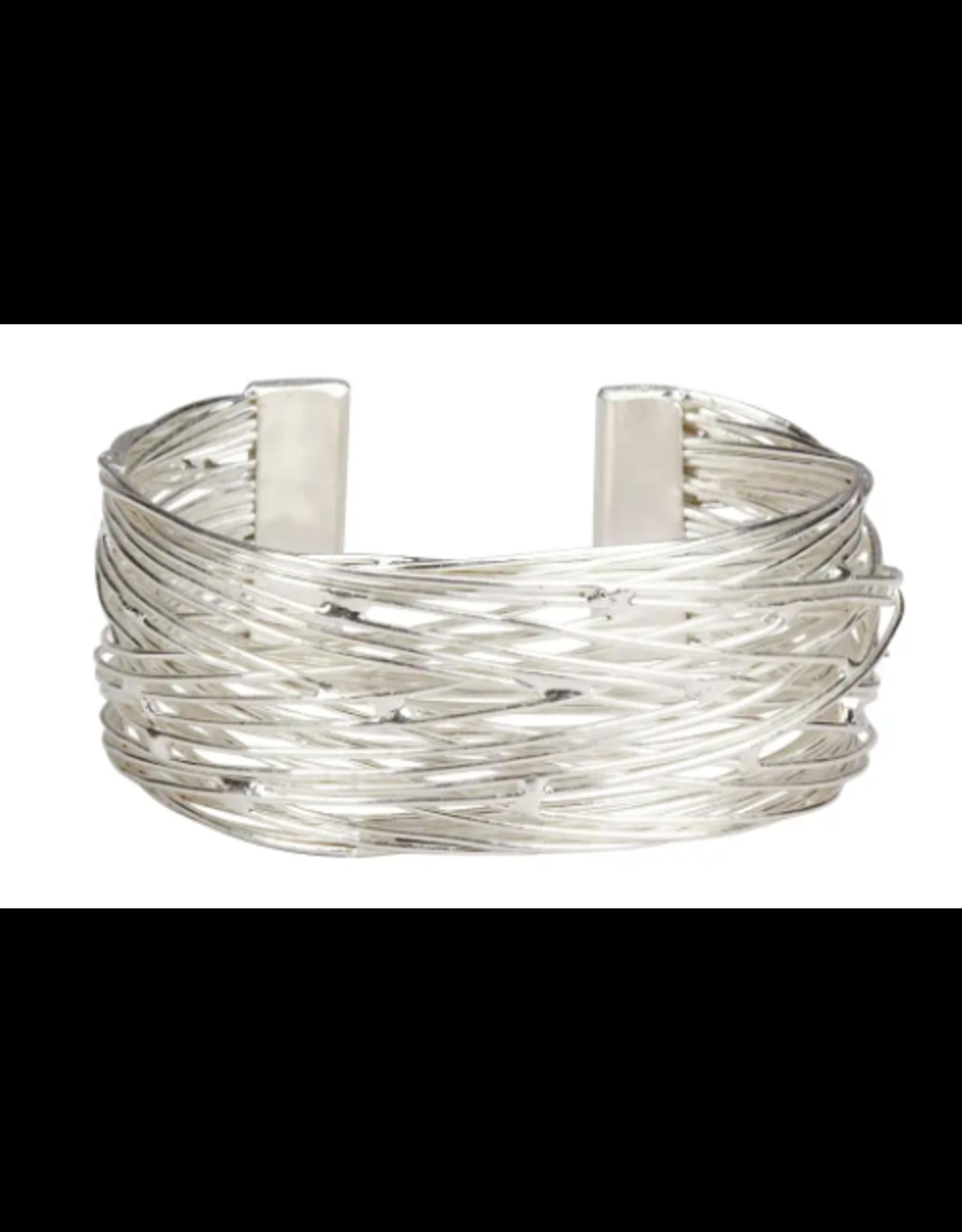Silver Tone Birds Nest Bracelet, India