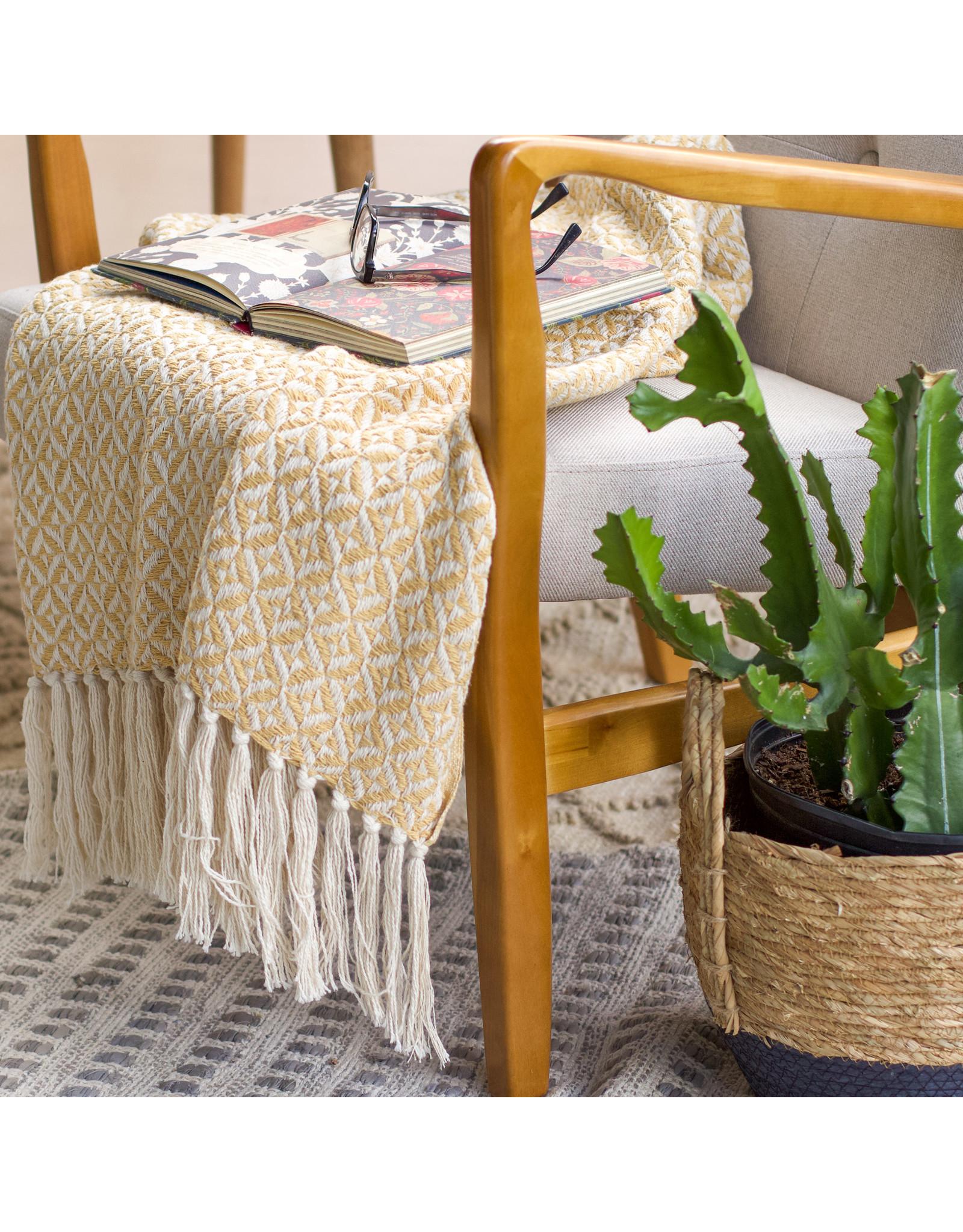 100% Cotton Pin Wheel Weave Blanket