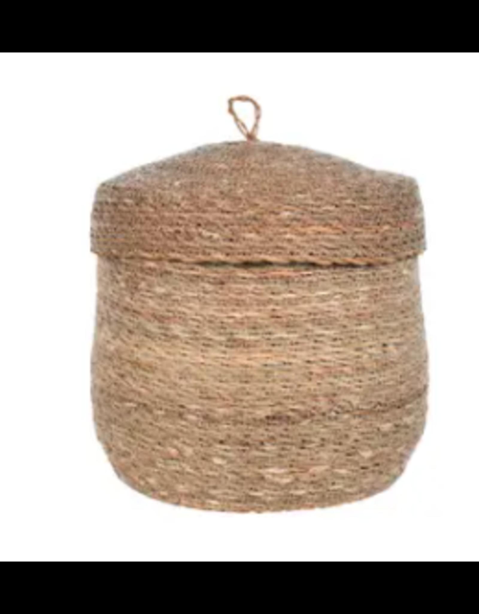 Woven Basket with Lid, Bangladesh