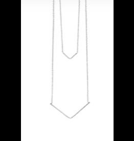 2 Strand V Shape Silver Necklace, India