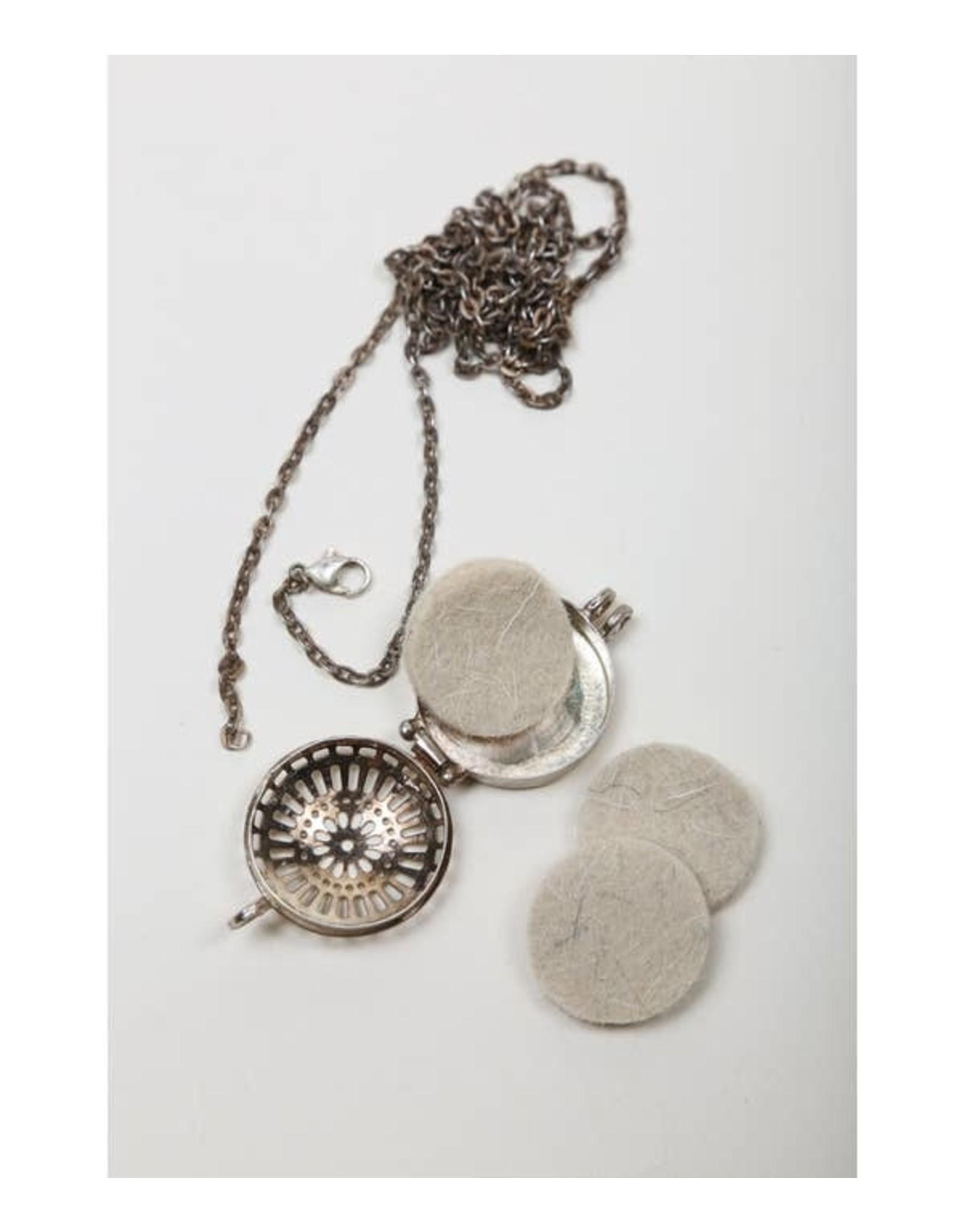 Silver Diffuser Necklace, India