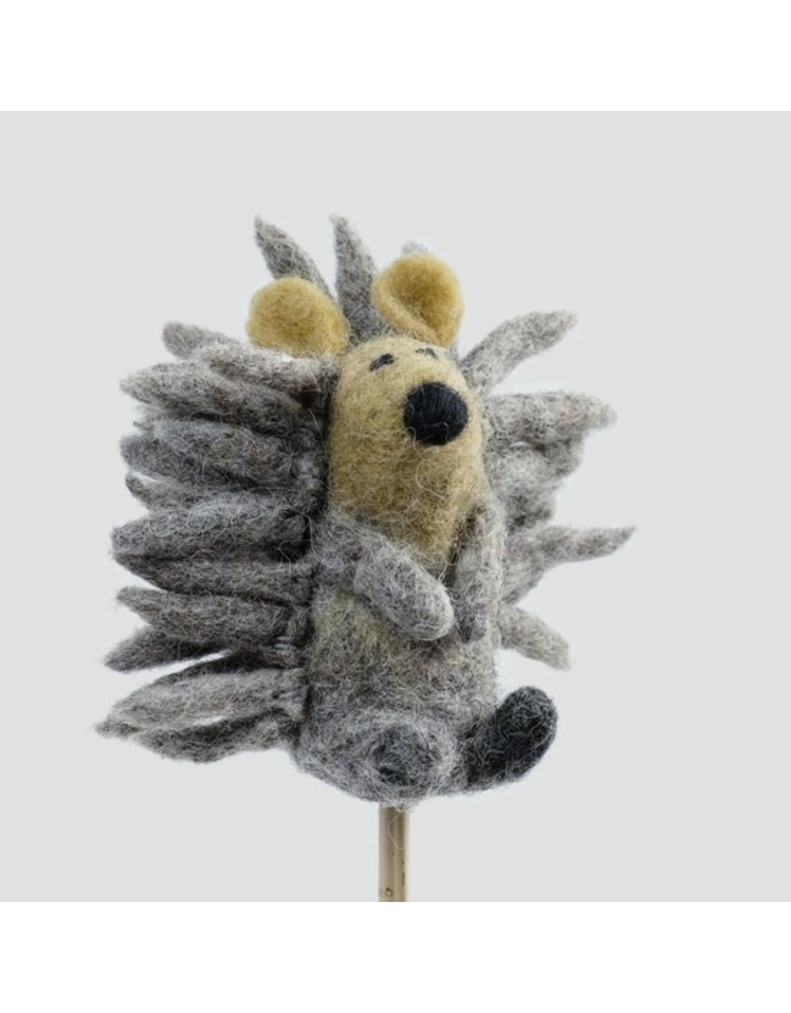 Felt Finger Puppet, Hedgehog, Nepal