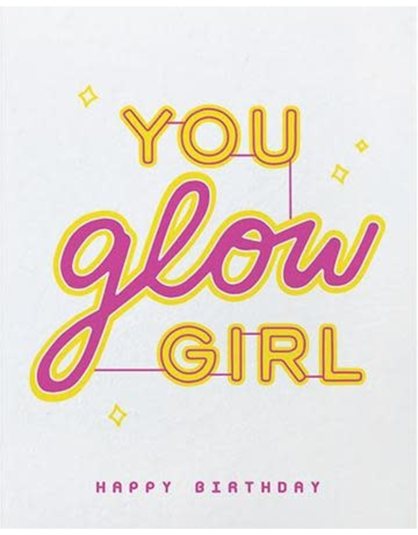 Good Paper You Glow Girl Birthday Greeting Card, Philippines