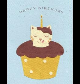 Chocolate Cat Birthday Card, Rwanda