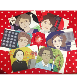 Rosie Riveter, Set of 6 Stationary Cards, Local