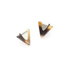Triangle Horn Studs Silver, India