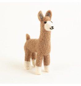 Felted Wool Llama, Guatemala
