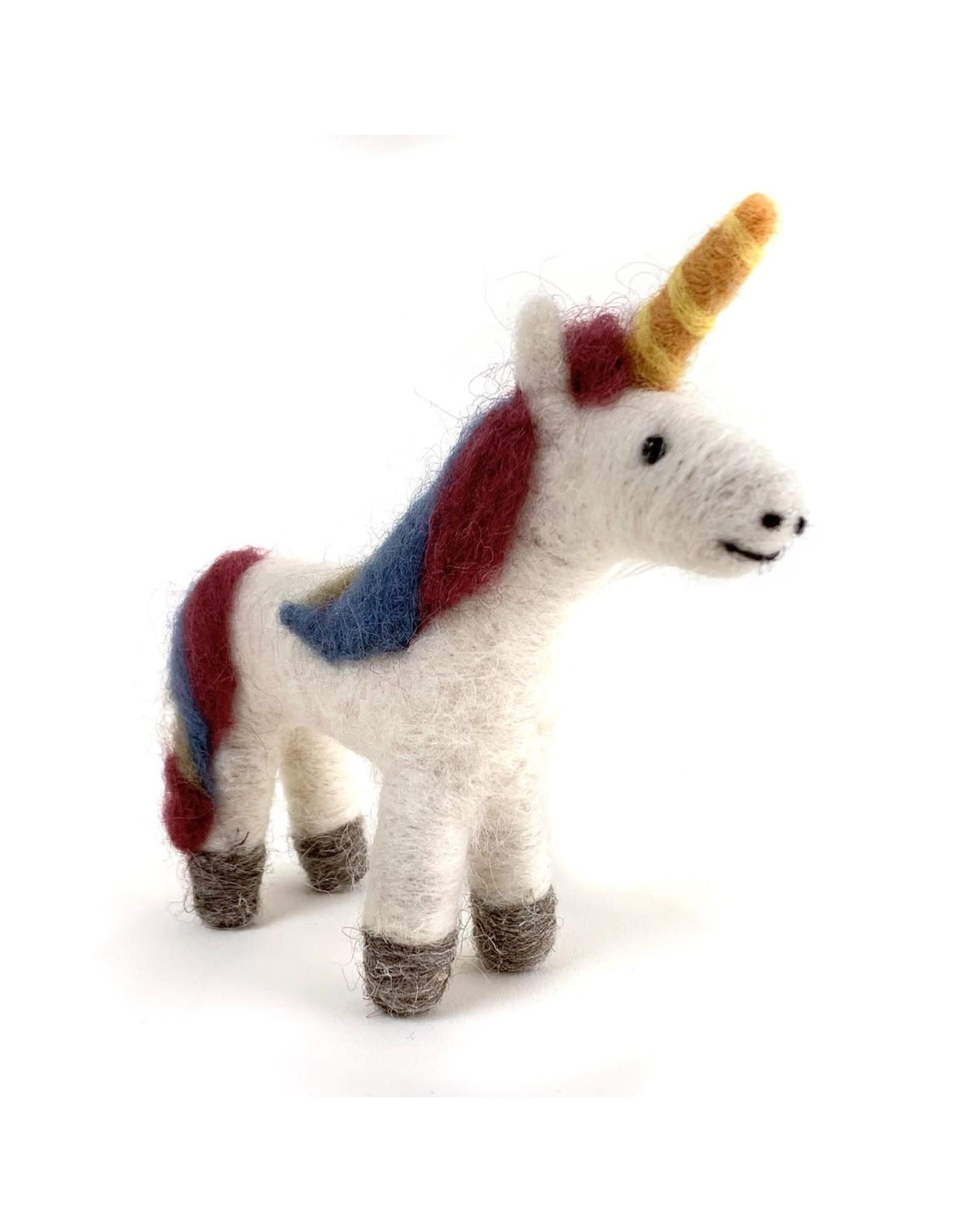 Felted Wool Unicorn, Guatemala
