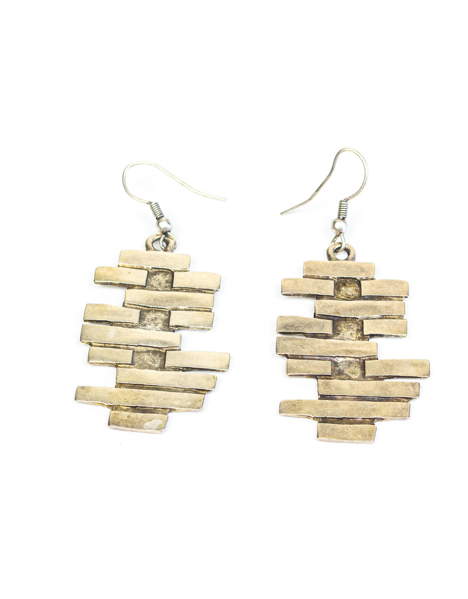 Divided Silver Plated Earrings, Turkey