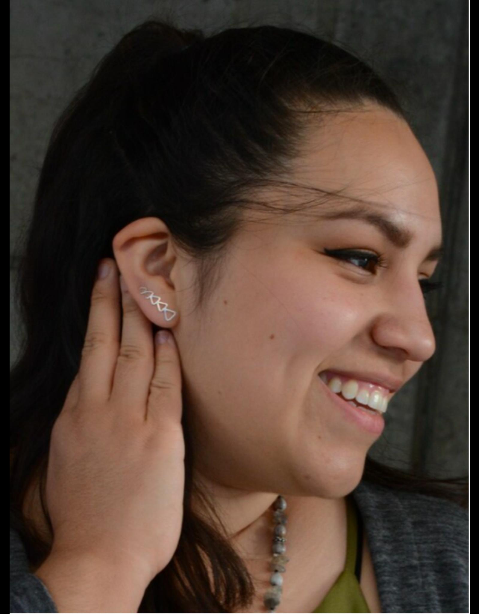 Trendy Triangle Ear Climber Earrings, India