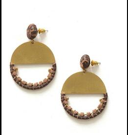 New Horizon Leather Earrings, India