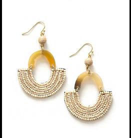 Beaded Horn Earrings, India