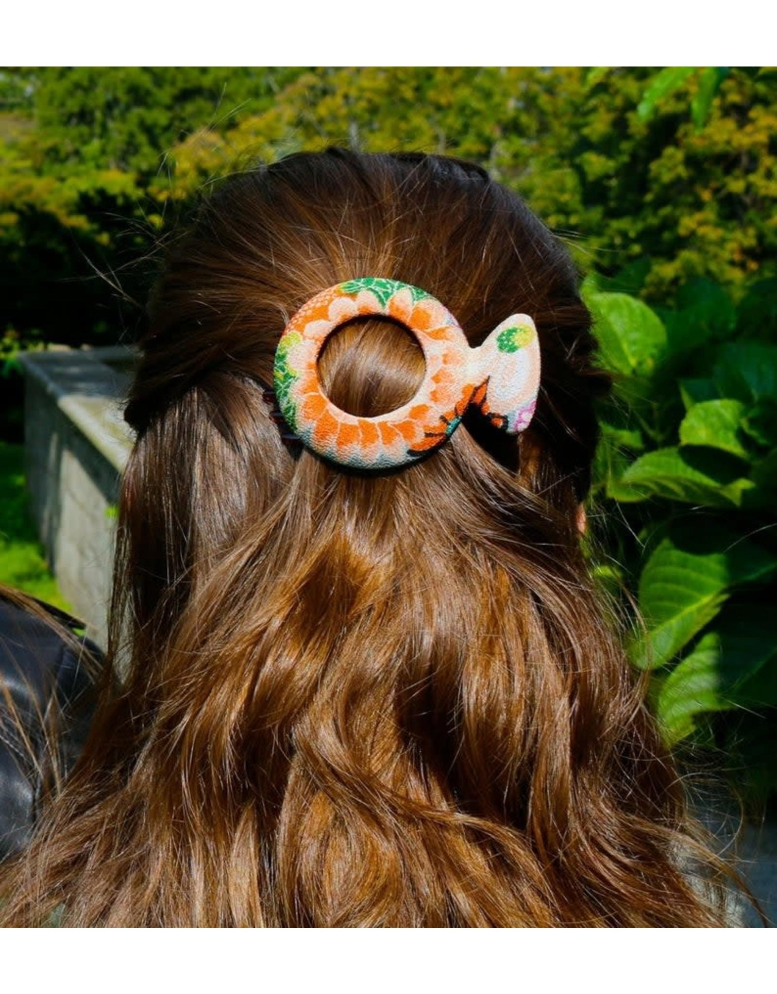 Circle Kimono Hair Clip, Medium, Japan
