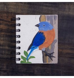 Mr. Ellie Pooh Small Notebook, Bluebird Natural White, Sri Lanka