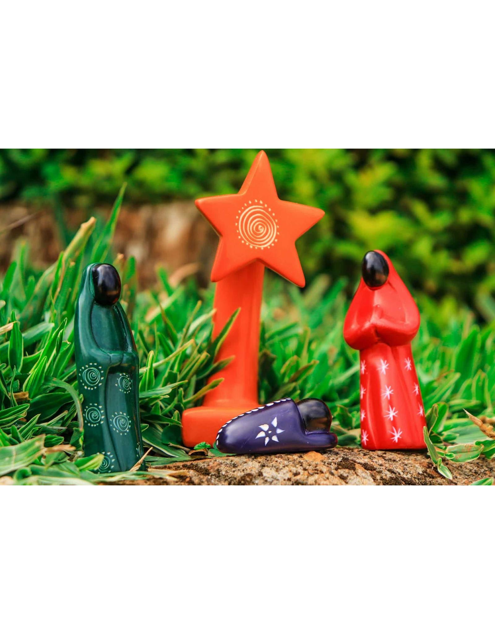 Mr. Ellie Pooh Soapstone Nativity Set, Kenya