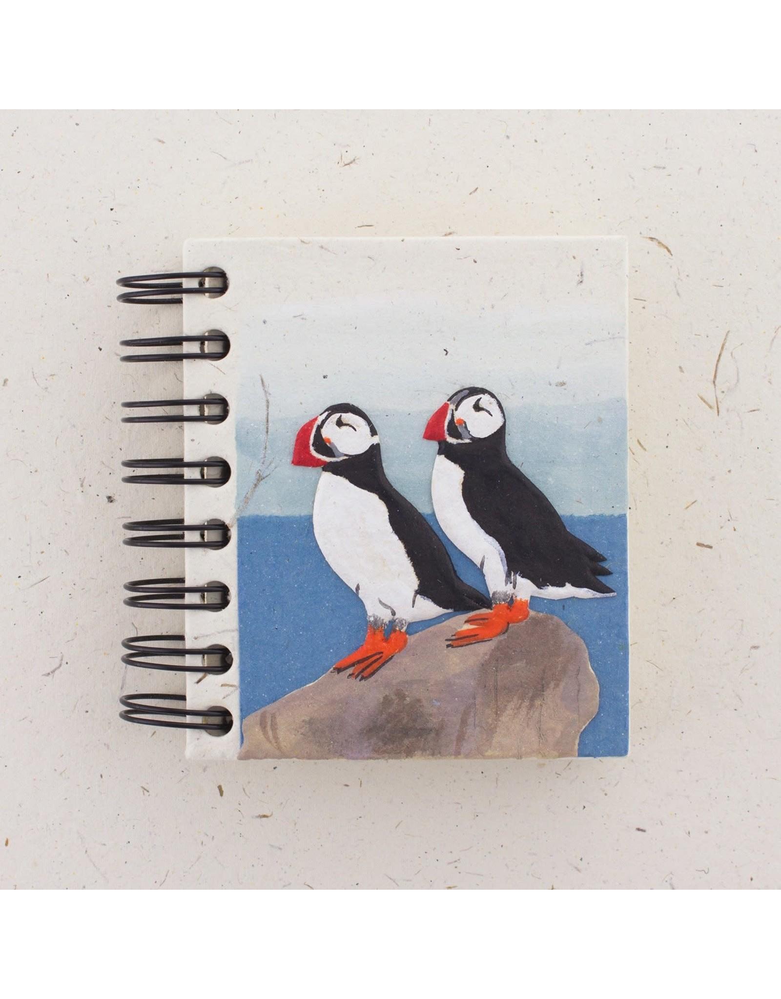 Mr. Ellie Pooh Small Notebook, Puffins Natural White, Sri Lanka
