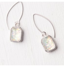 Alexa White & Silver Earrings, Asia