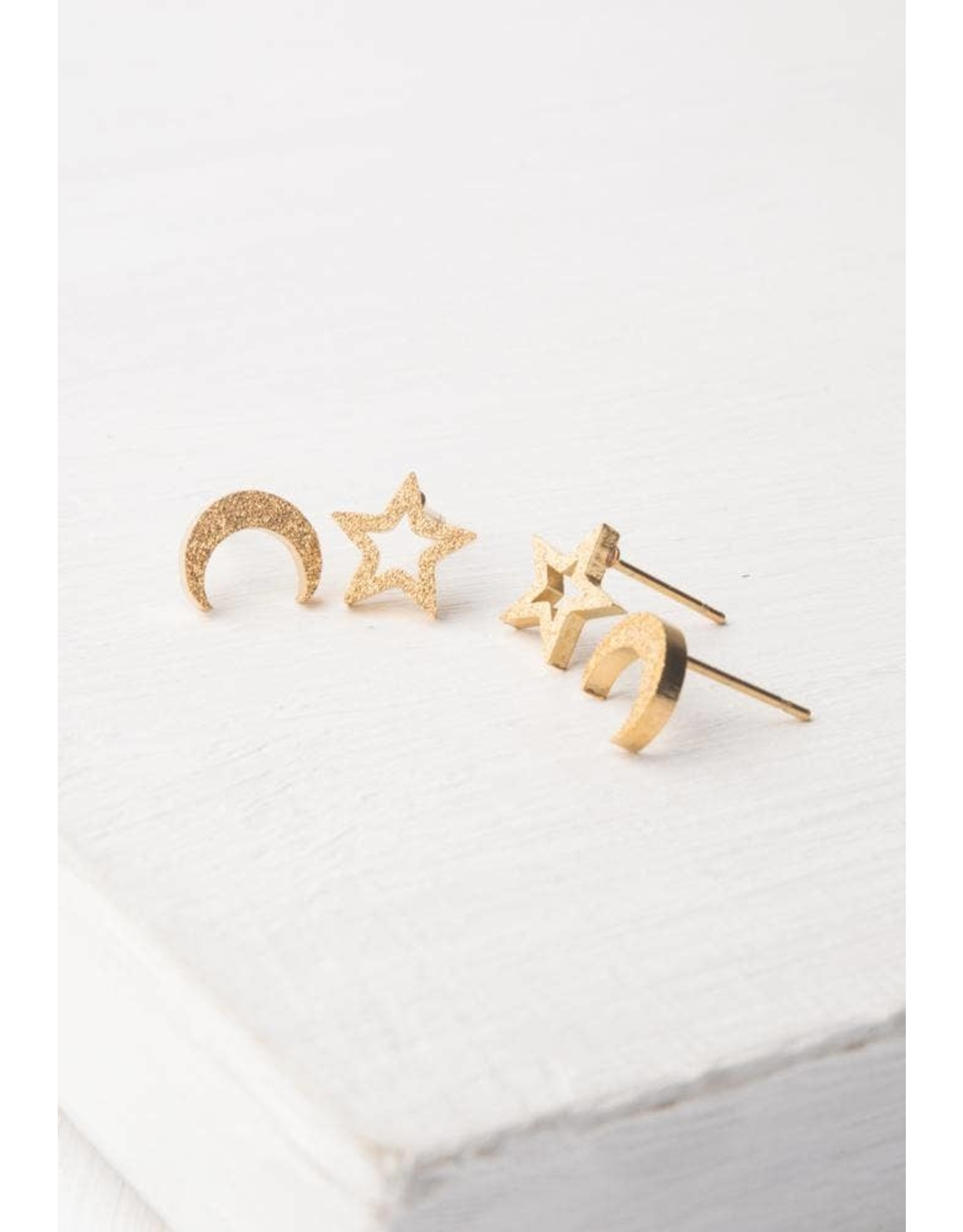 Aurora Gold Plated Studs, China