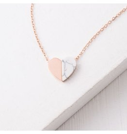 Alexis Rose Gold Plated Heart Necklace, China