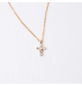 Grace Gold Plated Cross Necklace