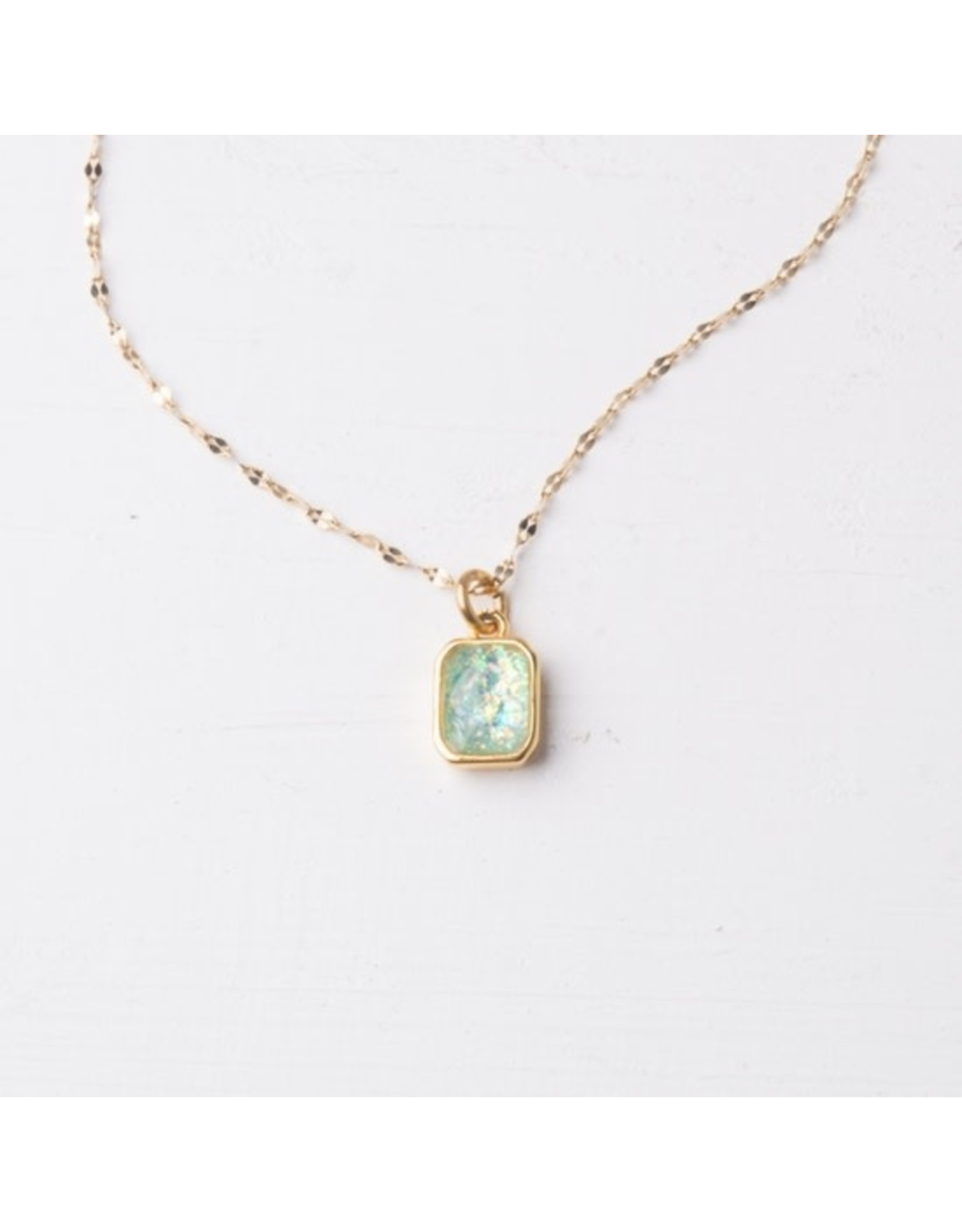 Lila Sky Blue Gold Plated Necklace, China