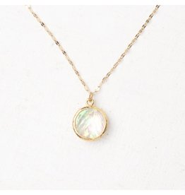 Joelle Gold and Opal Necklace