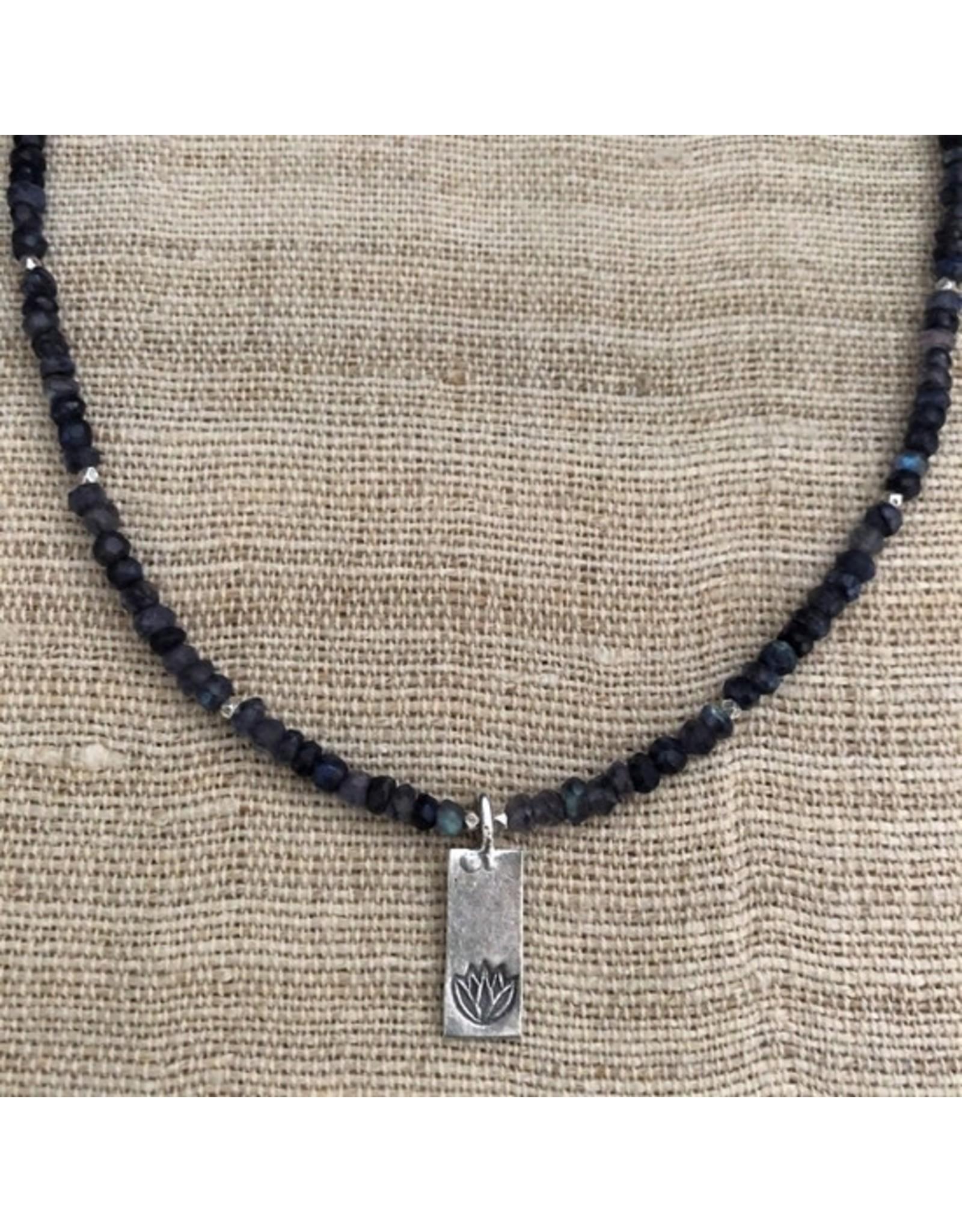 Blue Lotus Karen Silver Necklace
