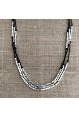 Three Layers Karen Silver Necklace