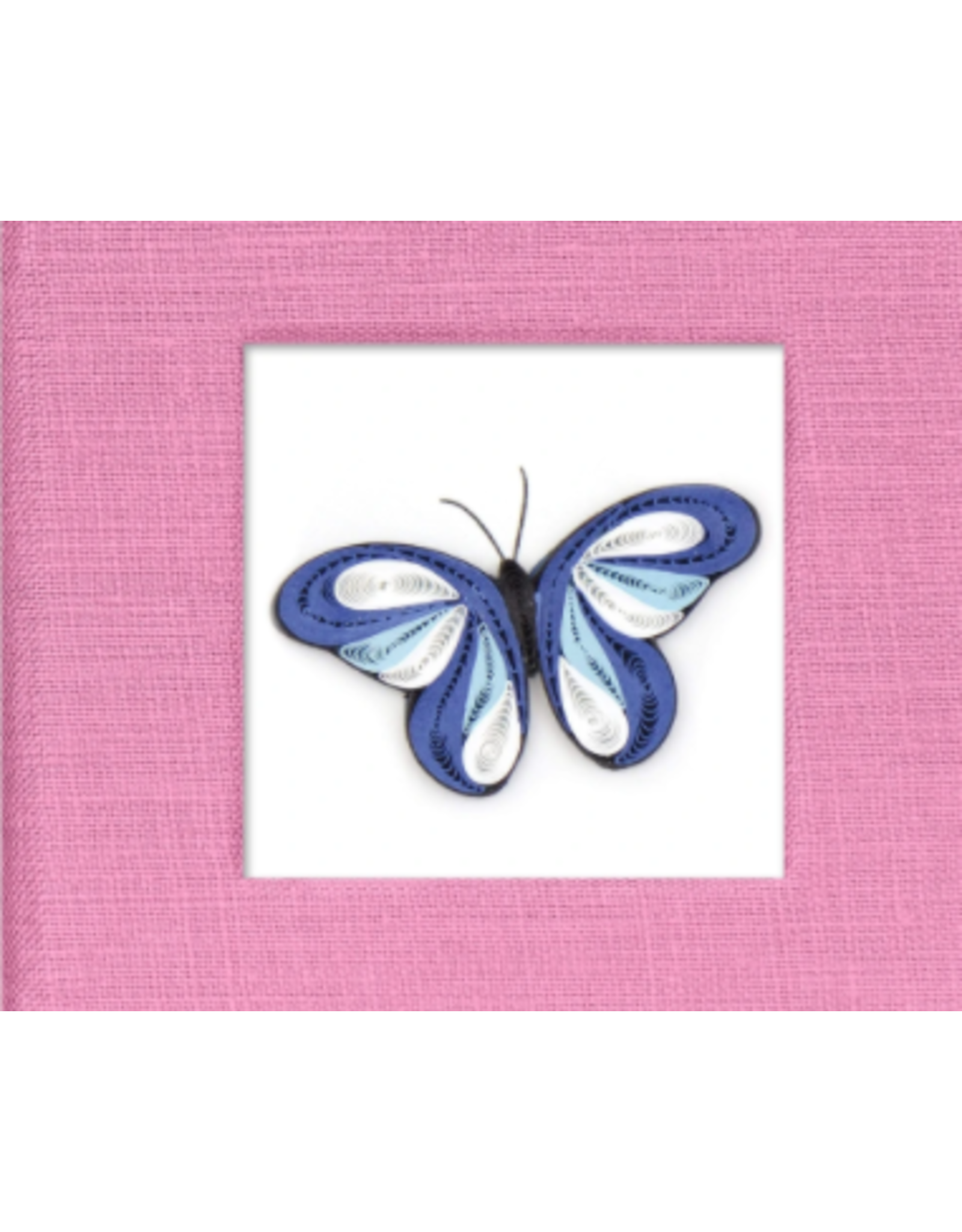 Quilled Post It Notes Cover, Blue Butterfly, Vietnam